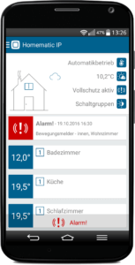 Smart Home Systeme Homematic IP App