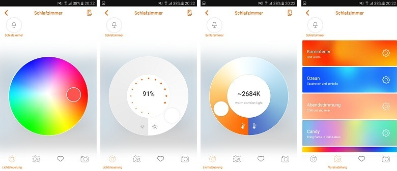 Osram Lightify App Szenen